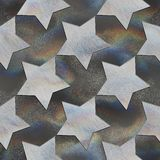 Star. Crystal pattern Royalty Free Stock Photo