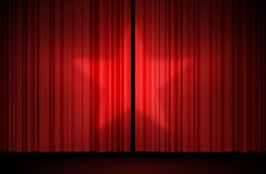 Star curtain. Red star curtain on stage Royalty Free Stock Photography