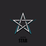 Star 3D abstract symbol. Popularity concept. Vector Illustration Stock Image