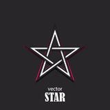 Star 3D abstract symbol. Popularity concept. Vector Illustration Royalty Free Stock Image