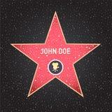 Star d'Hollywood La promenade de l'étoile de renommée avec des emblèmes symbolisent cinq catégories Hollywood, trottoir célèbre,  illustration stock