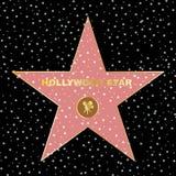 Star d'Hollywood sur la renommée de célébrité du boukevard de promenade illustration stock