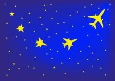 Star dans l'avion illustration de vecteur