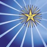 Star in the dark blue sky Stock Image