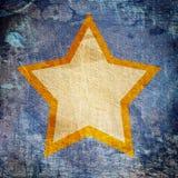 Star on dark grunge background Royalty Free Stock Photos