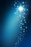 Star on a darkblue background. Abstract background black bright celebrate celebration cold dark stock illustration
