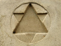 Star of David. Stone monument Stock Photos