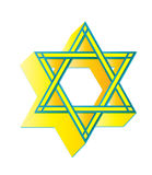 Star of David. In yellow brilliant color Royalty Free Stock Photography
