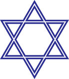 Star of David. This is a  illustration of a classic hexagram triangle, the Star of David Royalty Free Stock Photography