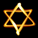 Star of David. Created by light close-up Stock Photography