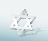 Star of David. On blue background Royalty Free Stock Photos