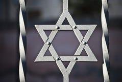 Star of David. Image of the Star of David behind bars Royalty Free Stock Photos