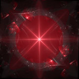 Star of David. Abstract star of david on red Stock Image