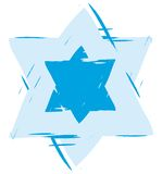 Star of David. Abstract blue illustration of the star of david Royalty Free Stock Photos