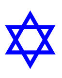 Star of David. Symbol on white background Royalty Free Stock Photos
