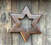 Star of David. Rustic Star of David art piece, made of wood Royalty Free Stock Photography