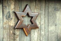 Star of David. Rustic Star of David art piece, made of wood Stock Image
