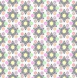 Star Of David Background. Star of david abstract background wallpaper in multicolors Royalty Free Stock Photos