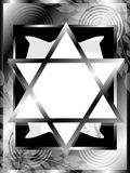 Star of David background in black Royalty Free Stock Photo