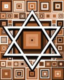 Star of David background on colorful background Royalty Free Stock Photo