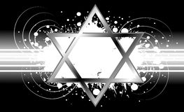 Star of David background in grey tones Stock Photography