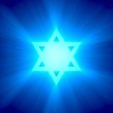 Star of David blue light flare Royalty Free Stock Image
