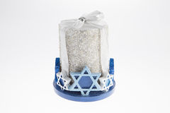 Star of David Candle Stock Photo