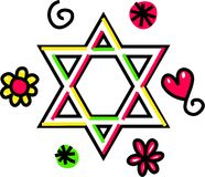 Star of David Cartoon Doodle Stock Images