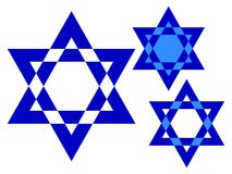 Star of David collection royalty free illustration