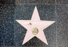The  star of  David Copperfield Royalty Free Stock Photography