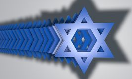 Star of David in 3D Royalty Free Stock Images