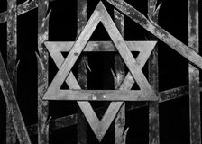 Dachau Concentration Camp - Star of David Stock Images
