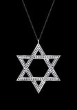 Star of David diamond necklace. Royalty Free Stock Image