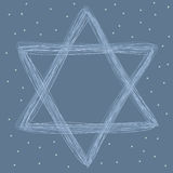 Star of David drawing Royalty Free Stock Photography