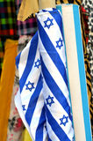 Star of David emblem on a fabric in Tel Aviv, Israel Stock Images