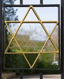 Star of David on entrance to the Jewish cemetery Vreelandseweg in Hilversum Stock Photos