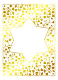 Star of David on a floral background Stock Photo