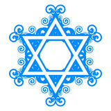 Star of David with floral decorations Stock Photo