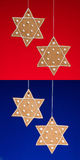 Star of david gingerbread cookie Stock Photo