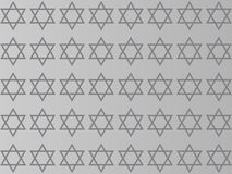 Star of David on a gray background stock illustration