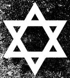 Star of David Half Tone Grunge. Star of the Flag of Israel in black and white half tone with grunge effect Stock Photography