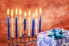 Star of David Hanukkah menorah Royalty Free Stock Image