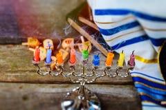 Star of David Hanukkah menorah royalty free stock images