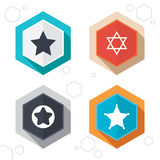 Star of David icons. Symbol of Israel Stock Photo