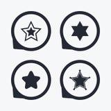 Star of David icons. Symbol of Israel. Stock Photo