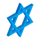 Star of David isometric 3d icon Stock Photo