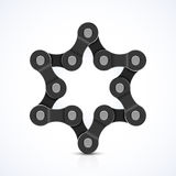 Star of David made of chain Royalty Free Stock Images