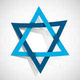 Star of David. Made of paper cut out Royalty Free Stock Image