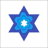 Star of David. Magen David, vector religious symbol. Royalty Free Stock Photos