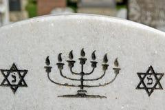Star of David and menorah stock image